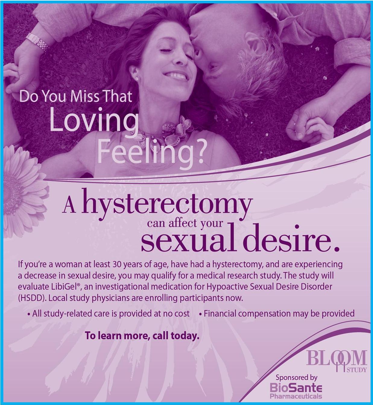 sexual study Decreased desire